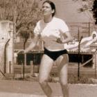 1970 - Profª Chris na disciplina de Voleibol na Faculdade de Educação Física da USP