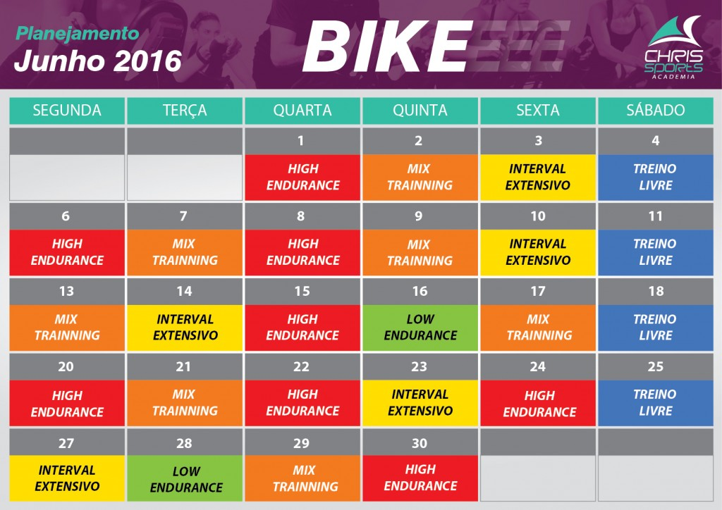 Planejamento bike junho 2016